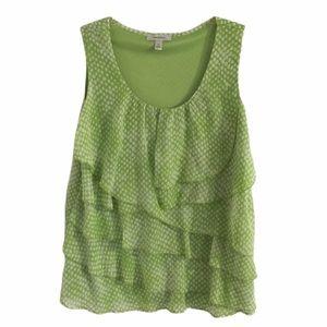 Dress barn light green dressy blouse